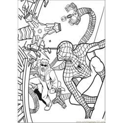Spiderman Want To Catch That Guy Free Coloring Page for Kids