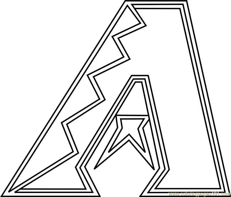Arizona Diamondbacks Logo Coloring Page Free Mlb