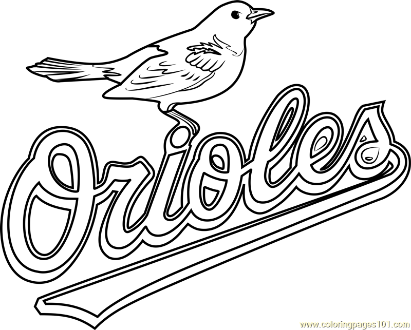 Baltimore Orioles Logo Coloring Page Free Mlb Coloring