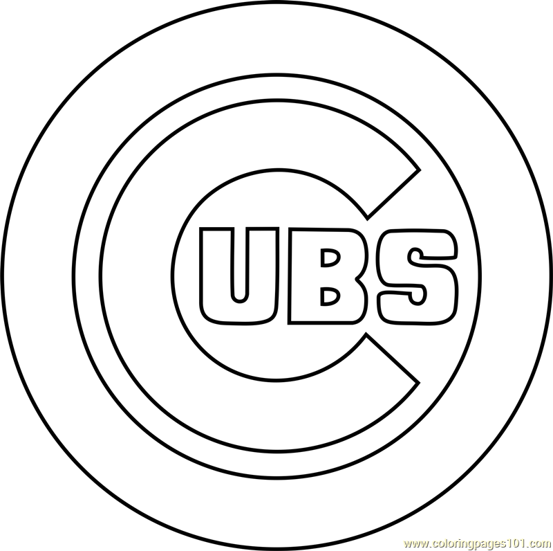 Chicago Cubs Logo Coloring Page Free Mlb Coloring Pages