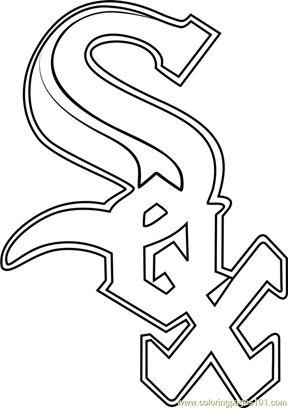 Chicago White Sox Logo Coloring Page Free Mlb Coloring