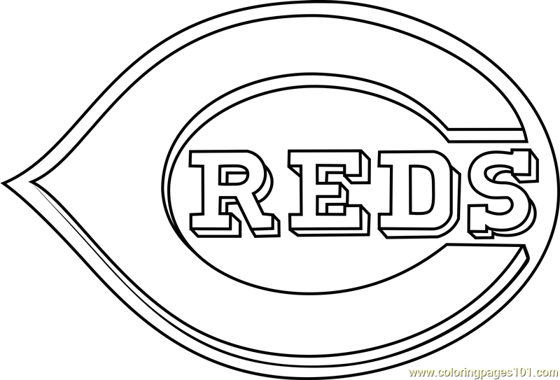 Cincinnati Reds Logo Coloring Page Free Mlb Coloring