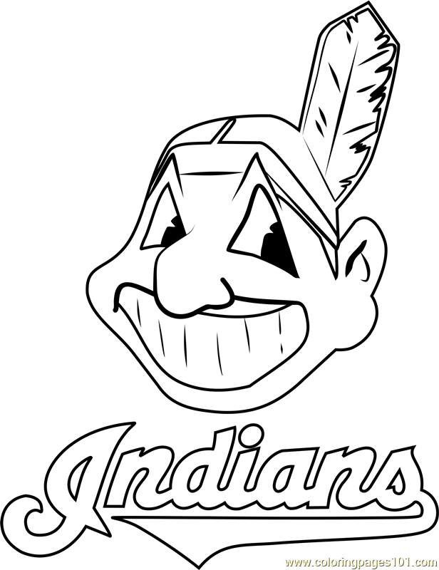 Cleveland Indians Logo Coloring Page Free Mlb Coloring