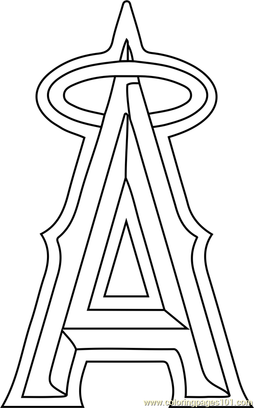 Los Angeles Angels Of Anaheim Logo Coloring Page Free