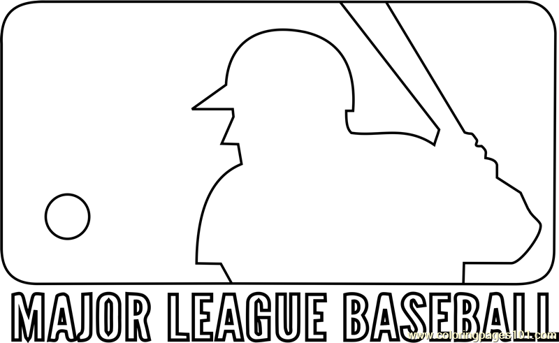 Mlb Logo Coloring Page Free Mlb Coloring Pages