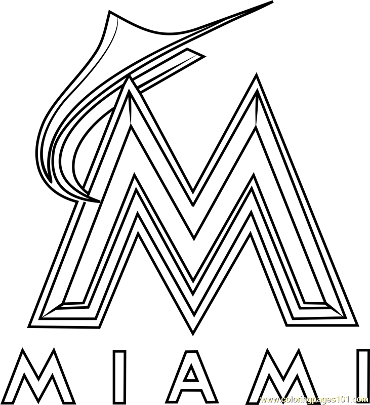 miami marlins coloring pages - photo#4
