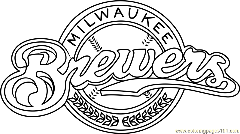 milwaukee brewers logo coloring page