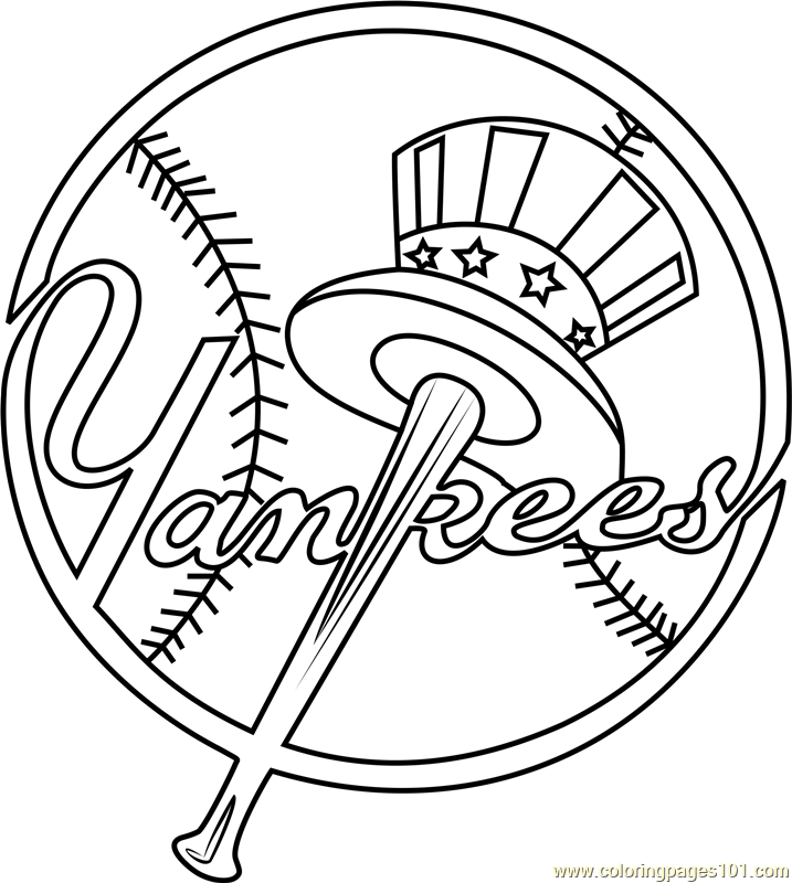 New York Yankees Logo Coloring Page Free Mlb Coloring