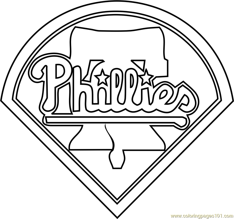 Philadelphia Phillies Logo Coloring Page