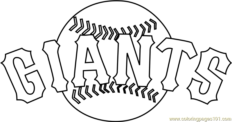 San Francisco Giants Logo Coloring Page - Free MLB ...