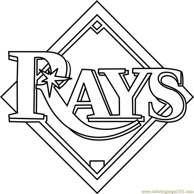Tampa Bay Rays Logo Coloring Page For Kids Free Mlb Printable Coloring Pages Online For Kids Coloringpages101 Com Coloring Pages For Kids