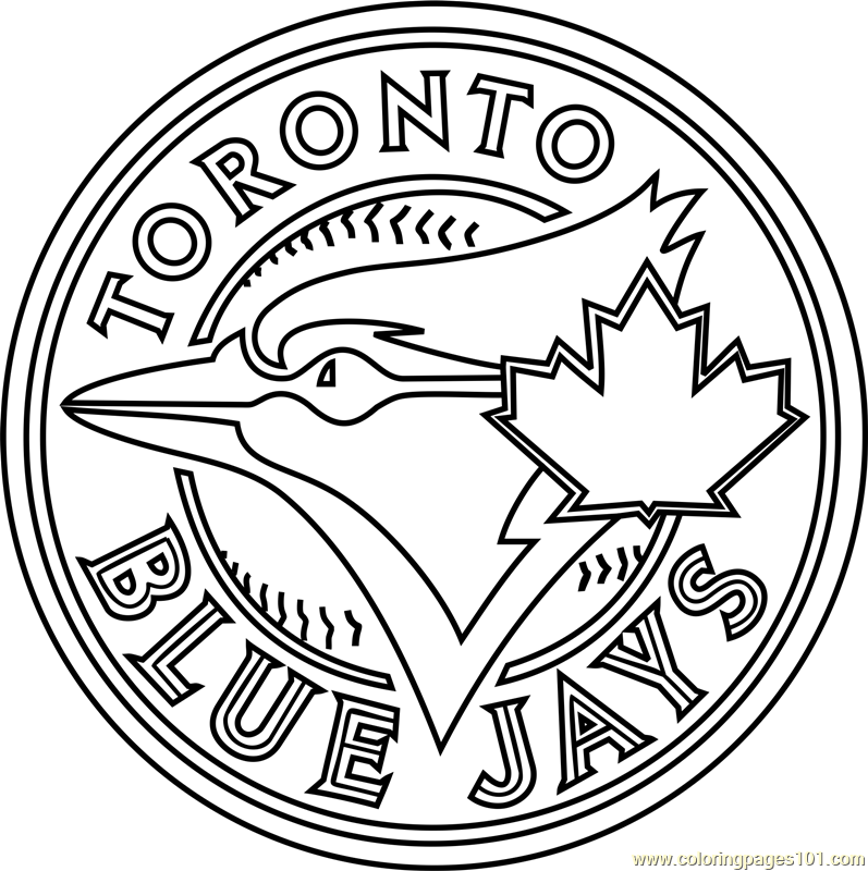 toronto blue jays logo coloring pages toronto blue jays logo coloring page free mlb coloring