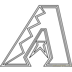 Arizona Diamondbacks Logo Free Coloring Page for Kids