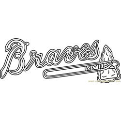 Atlanta Braves Logo Free Coloring Page for Kids
