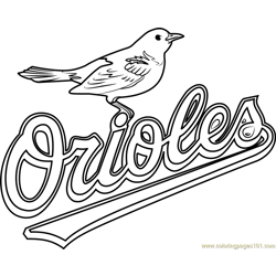 Baltimore Orioles Logo Free Coloring Page for Kids