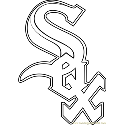 Chicago White Sox Logo Free Coloring Page for Kids