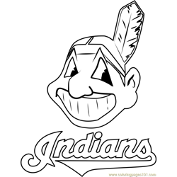 Cleveland Indians Logo Free Coloring Page for Kids
