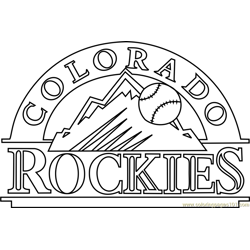 Colorado Rockies Logo Free Coloring Page for Kids