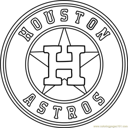 Houston Astros Logo Free Coloring Page for Kids