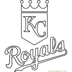 Kansas City Royals Logo Free Coloring Page for Kids