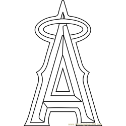 Los Angeles Angels of Anaheim Logo Free Coloring Page for Kids