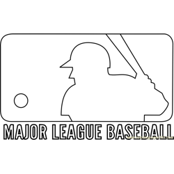 MLB Logo Free Coloring Page for Kids