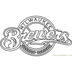 Milwaukee Brewers Logo Free Coloring Page for Kids