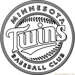 Minnesota Twins Logo Free Coloring Page for Kids