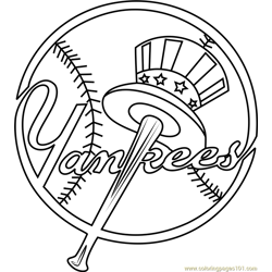 New York Yankees Logo Free Coloring Page for Kids