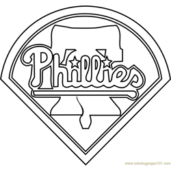 Philadelphia Phillies Logo Free Coloring Page for Kids