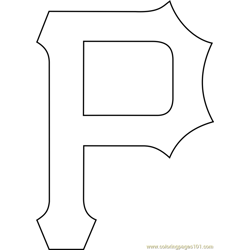 Pittsburgh Pirates Logo Free Coloring Page for Kids