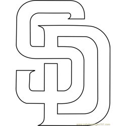 San Diego Padres Logo Free Coloring Page for Kids