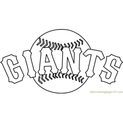 San Francisco Giants Logo Free Coloring Page for Kids