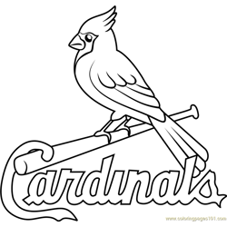 St Louis Cardinals Logo Free Coloring Page for Kids