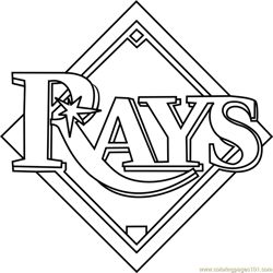 Tampa Bay Rays Logo Free Coloring Page for Kids