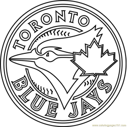 Toronto Blue Jays Logo Free Coloring Page for Kids
