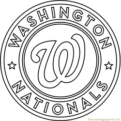 Washington Nationals Logo Free Coloring Page for Kids