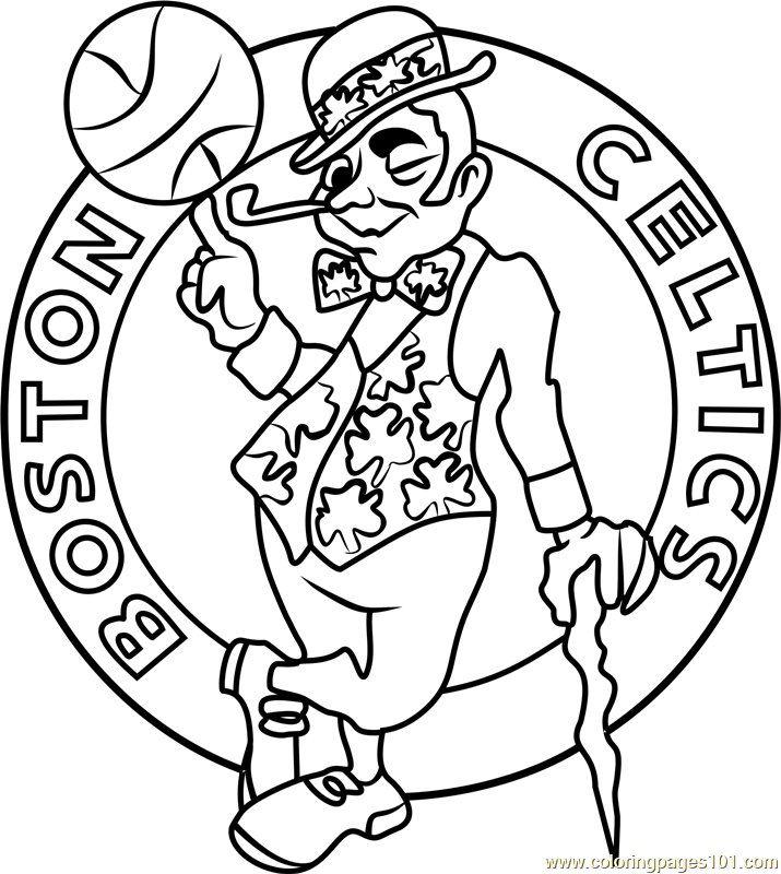 Boston Celtics Coloring Page Free Nba Coloring Pages