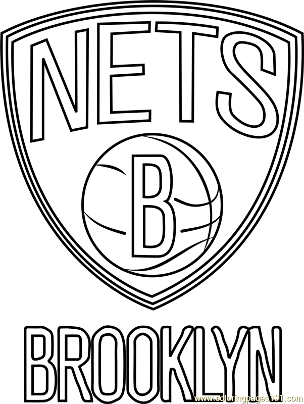 Brooklyn Nets Coloring Page
