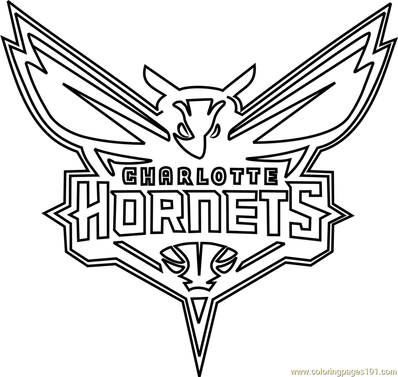 Charlotte Hornets Coloring Page