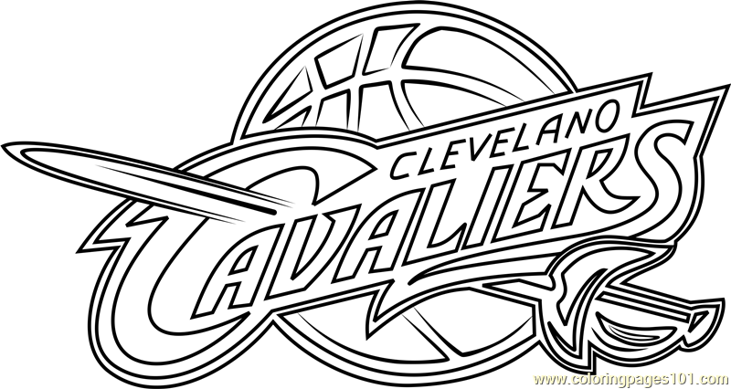 Cleveland Cavaliers Coloring Page Free NBA Coloring