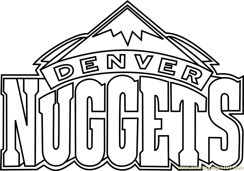 Denver Nuggets Coloring Page