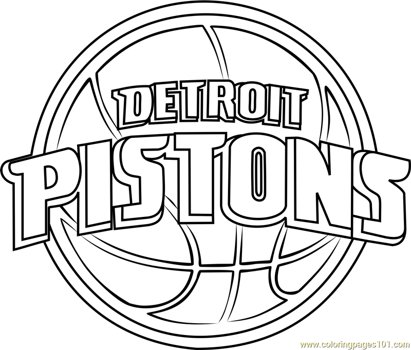 Detroit Pistons Coloring Page