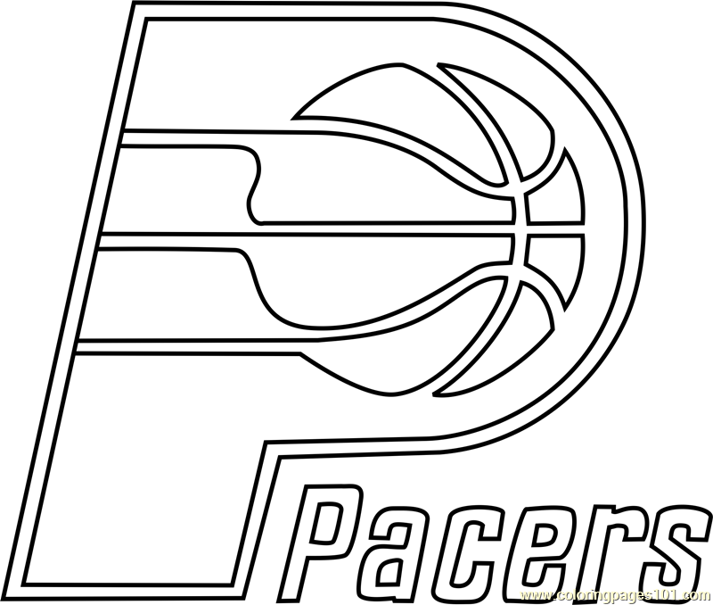 Indiana pacers coloring page free nba coloring pages for Indiana pacers coloring pages