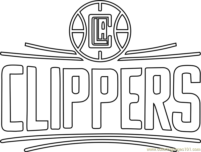 Los Angeles Clippers Coloring Page