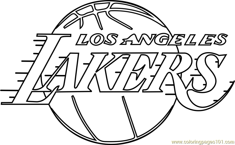 Los Angeles Lakers Coloring Page Free Nba Coloring Pages