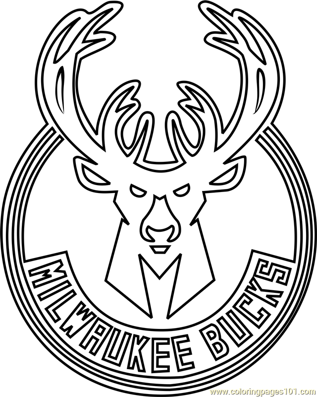 Milwaukee Bucks Coloring Page Free NBA Coloring Pages