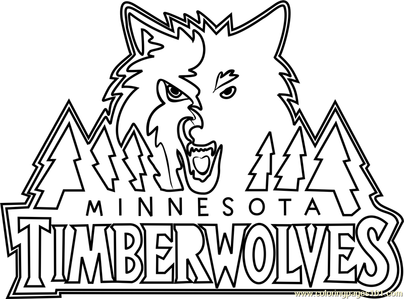 Minnesota Timberwolves Coloring Page Free Nba Coloring Pages