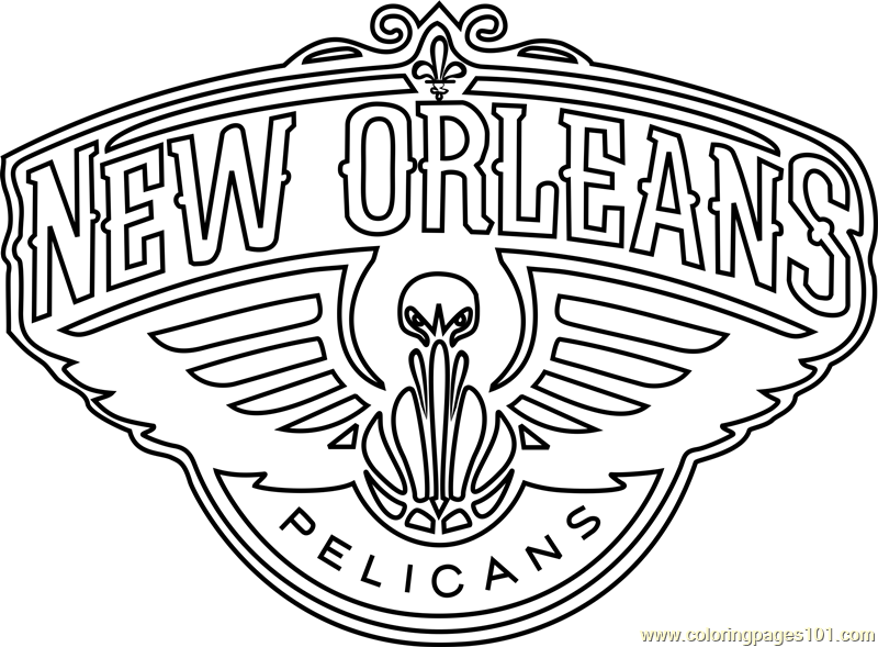New Orleans Pelicans Coloring Page Free Nba Coloring Pages