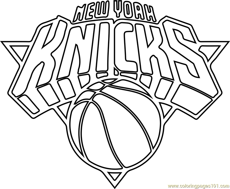 New York Knicks Coloring Page - Free NBA Coloring Pages ...